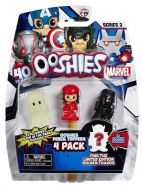 Ooshies 4 Pack Series 2 Marvel Pencil Toppers Ant Man, Elektra, Iron Man